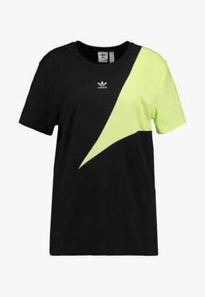 COLOUR BLOCKING DESIGN BOYFRIEND TEE - Print T-shirt - black