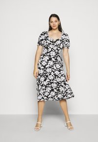 Dorothy Perkins Curve - CURVE RUCHED FLORAL MIDI - Day dress - multi coloured - 1