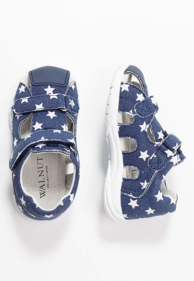 BEDFORD - Sandals - navy/white