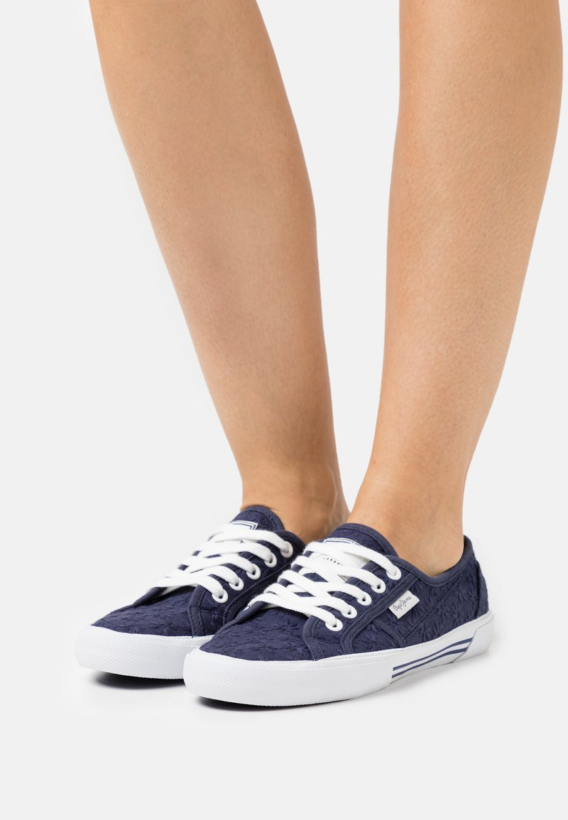 Pepe Jeans - ABERLADY LACE - Trainers - navy