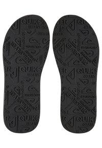 Quiksilver - CARVER - T-bar sandals - grey/grey/black - 2