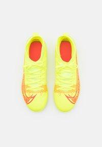 Nike Performance - MERCURIAL 8 CLUB MG UNISEX - Moulded stud football boots - volt/black/bright crimson - 3