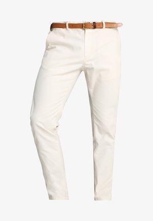 STUART CLASSIC GARMENT DYED  - Trousers - stone