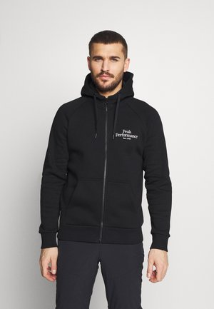 ORIGINAL ZIP HOOD - Mikina na zip - black