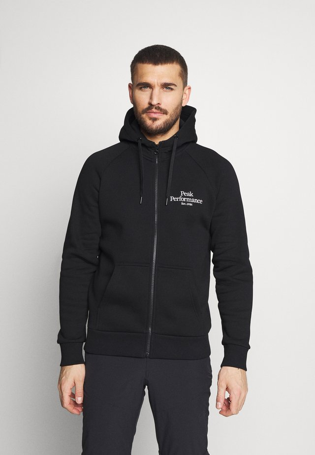 ORIGINAL ZIP HOOD - Collegetakki - black