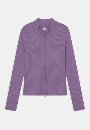 VICKY ZIP - Cardigan - lilac