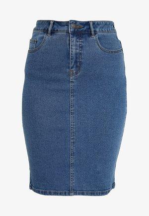 VMHOT PENCIL SKIRT  - Pouzdrová sukně - medium blue denim