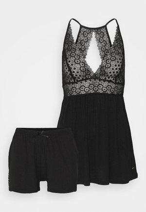 LUXURY SHORTY SET - Pyjama - black