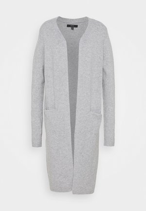 VMBRILLIANT LONG OPEN - Gilet - light grey melange