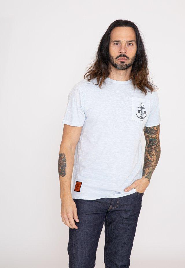 AUSTER  - T-shirt imprimé - grey