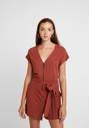 ZIP THROUGH - Overall / Jumpsuit /Buksedragter - chocolate