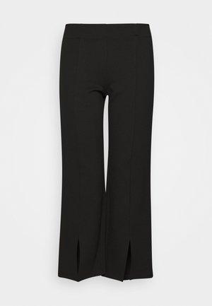 NMSKYLER SLIT PANTS - Kalhoty - black