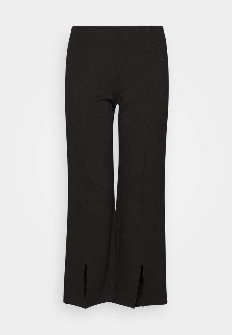 Noisy May Petite - NMSKYLER SLIT PANTS - Bukse - black