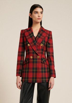 SAVERIA - Short coat - var rosso/nero