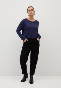 Violeta by Mango - KYOTO - Long sleeved top - bleu marine foncé - 1