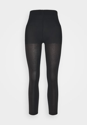 FALKE TARNISH 100 DENIER LEGGINGS BLICKDICHT GROB SCHWARZ - Leggings - black