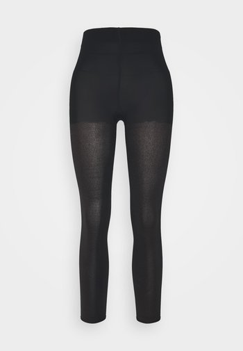 FALKE TARNISH 100 DENIER LEGGINGS BLICKDICHT GROB SCHWARZ