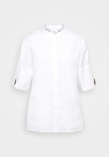 POPLIN BLOUSE SHANKS - Button-down blouse - white