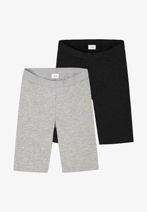 2 PACK - Shorts - grey/black