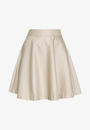 MINI SKIRT - Gonna a campana - light beige