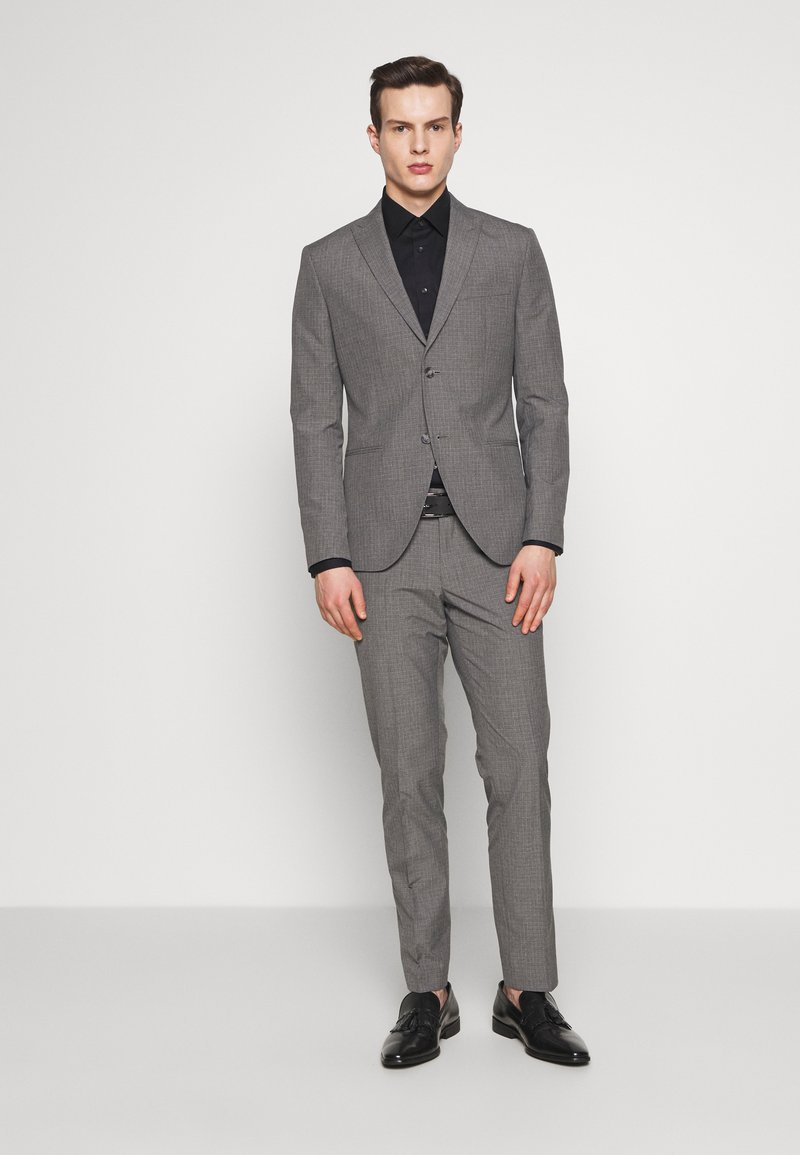 Isaac Dewhirst - RECYCLED MID TEXTURE - Oblek - grey
