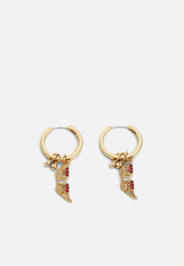 MILA TWIST MINI - Earrings - shiny gold-coloured