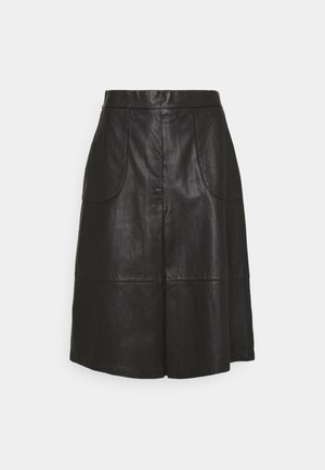 SKIRT - Gonna di pelle - black
