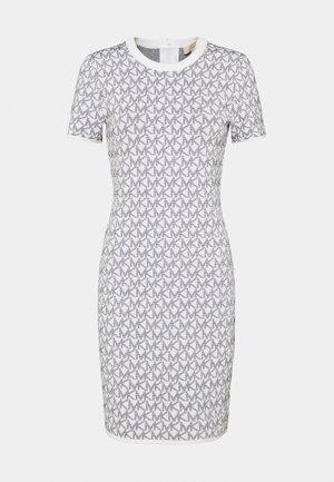 BOLD LOGO - Pletené šaty - white/black