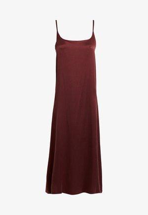 LONG SLIP DRESS - Nightie - rust