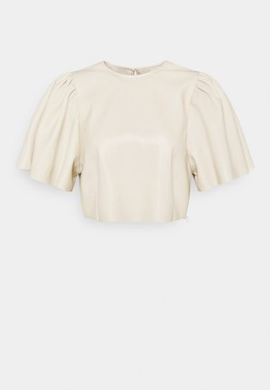 BUTTERFLY SLEEVE - Blouse - beige