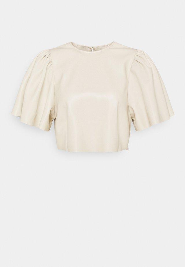 BUTTERFLY SLEEVE - Camicetta - beige