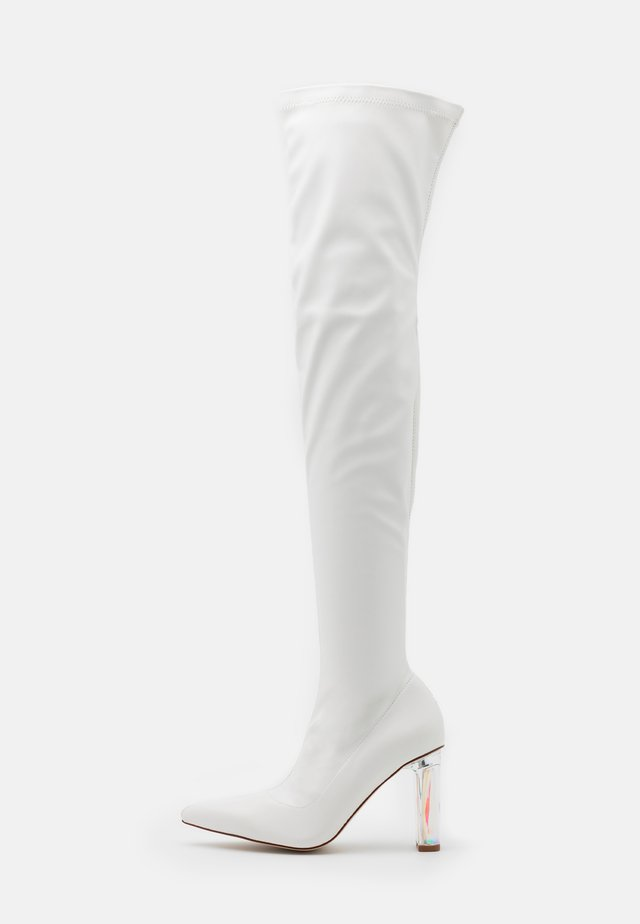 BRIANA - High heeled boots - white