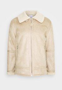 AVIATOR - Faux leather jacket - stone