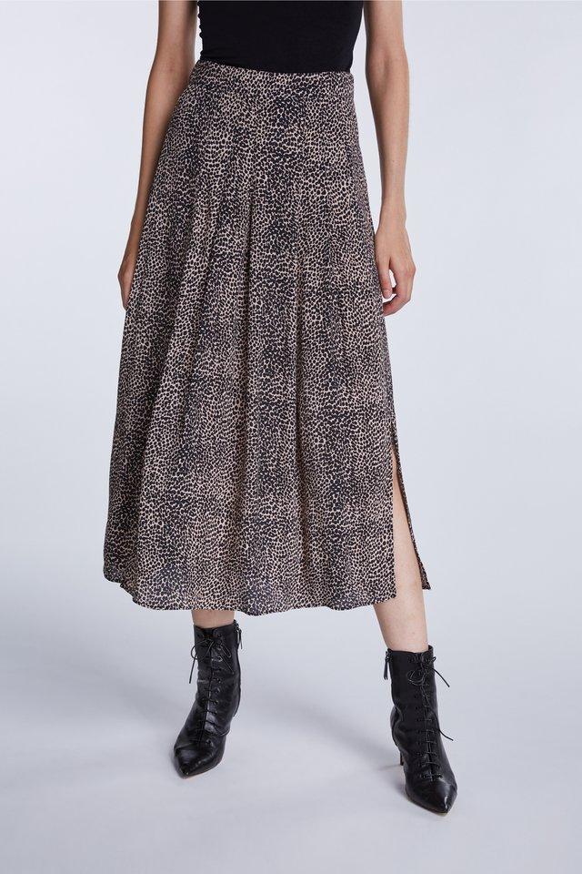 Pleated skirt - light stone grey