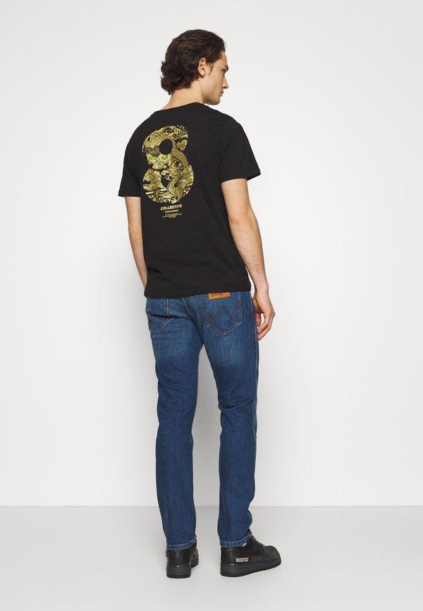 Wrangler GREENSBORO - Jeansy Straight Leg - hard edge/niebieski denim Odzież Męska GQYE