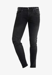 TOM TAILOR DENIM - CULVER STRETCH - Jeans Skinny Fit - used dark stone black/denim grey - 3