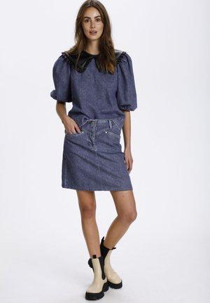 SLNEEL  - Mini skirt - classic blue denim