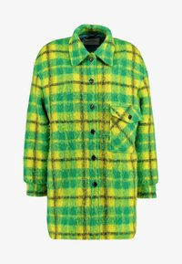 Mads Nørgaard - CHECKY CABBY - Classic coat - green/yellow - 3