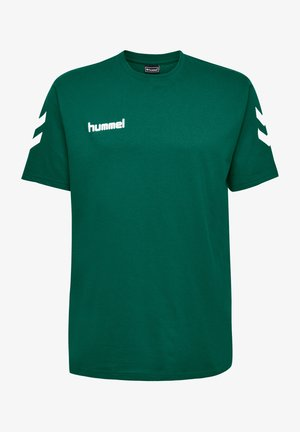 HMLGO - Print T-shirt - evergreen