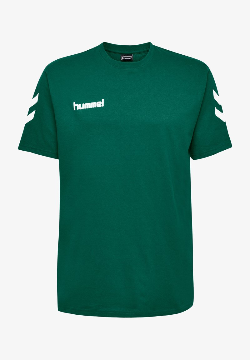 Hummel - HMLGO - Print T-shirt - evergreen