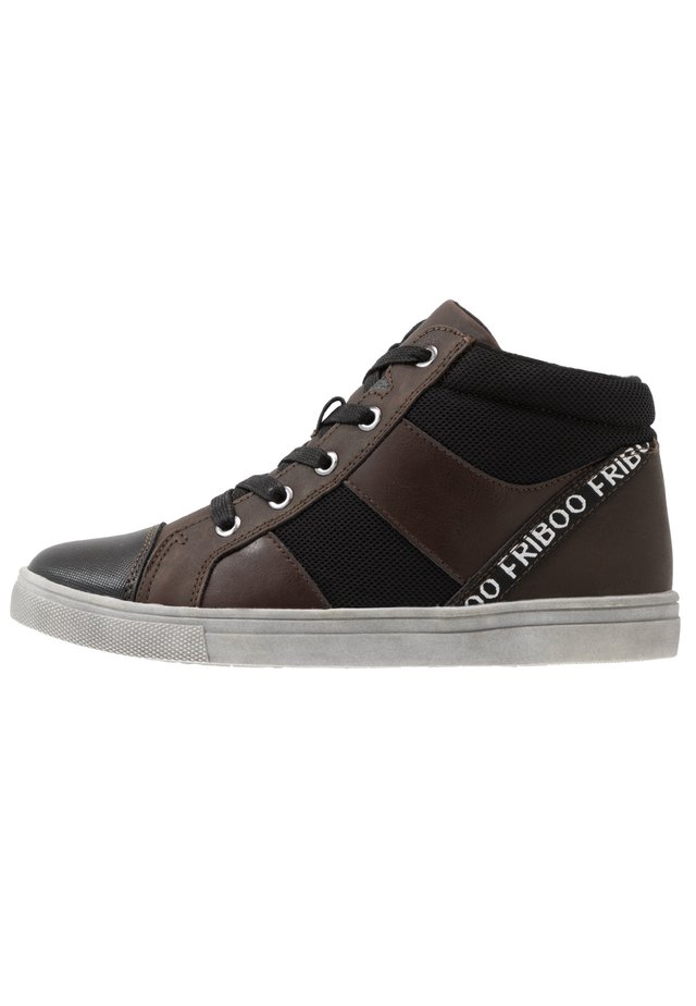Sneakers hoog - dark brown