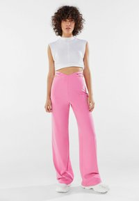 Bershka - Trousers - pink - 1