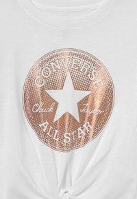 Converse - CLASSIC LENGTH TIE FRONT - Maglietta a manica lunga - white - 2