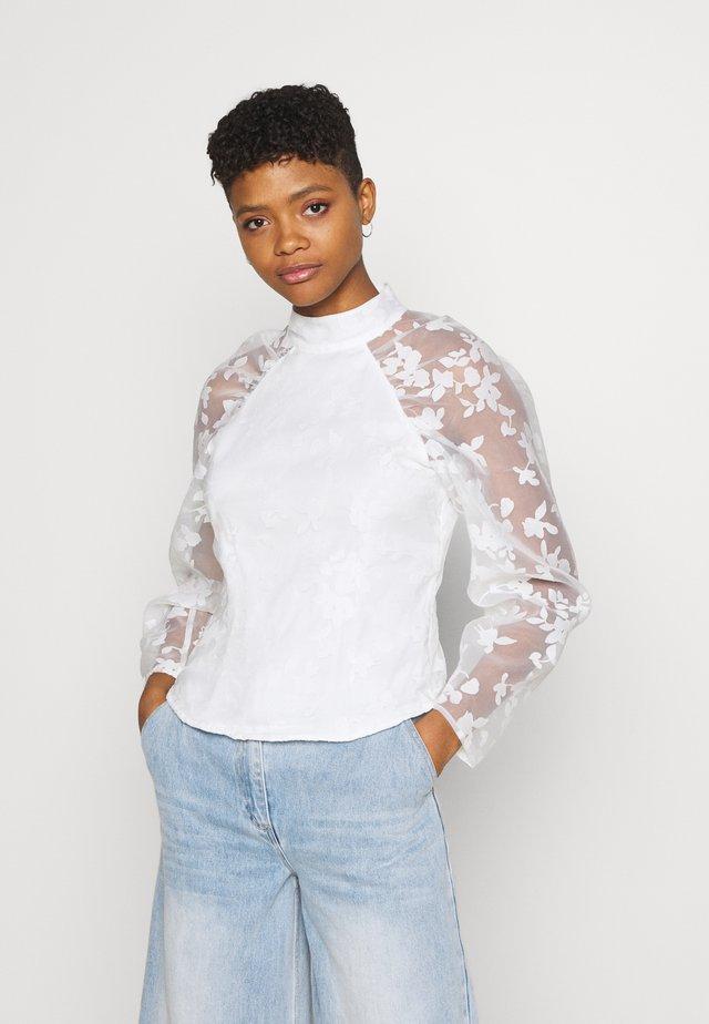 YLVA BLOUSE - Maglietta a manica lunga - offwhite
