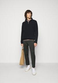 Filippa K - TERRY CROPPED PANTS - Trousers - dark spruc - 1