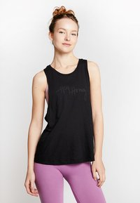 Hey Honey - TANK BREATHE EASY  - Topper - black - 0