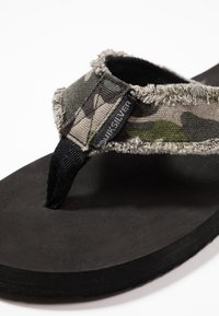 Quiksilver - MONKEY ABYSS - T-bar sandals - green/black/brown - 5