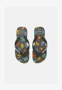 Havaianas - POKEMON UNISEX - T-bar sandals - new graphite - 0