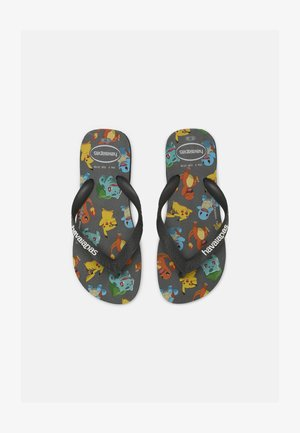 POKEMON UNISEX - Flip Flops - new graphite