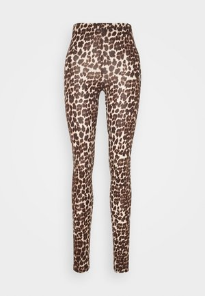 ONLBELLA LIVE LOVE LEGGINGS  - Leggingsit - black leo